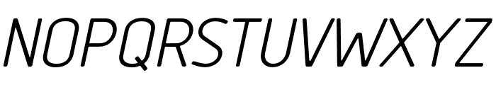 Tadao-Italic Font UPPERCASE