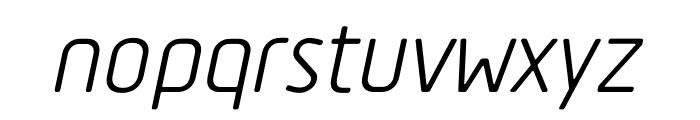 Tadao-Italic Font LOWERCASE
