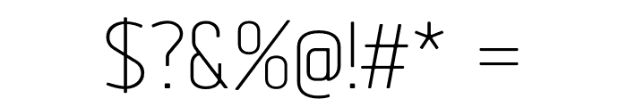 Tadao-Light Font OTHER CHARS