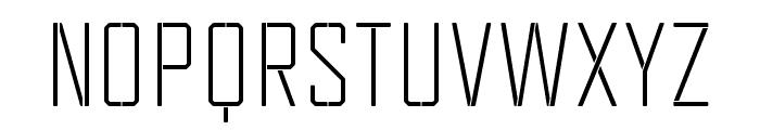 TecnicaStencil1Rg Font UPPERCASE