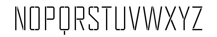 TecnicaStencil2Rg Font UPPERCASE