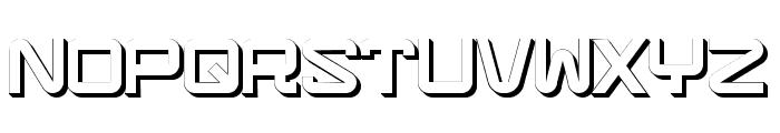Teknikalershadow Font UPPERCASE