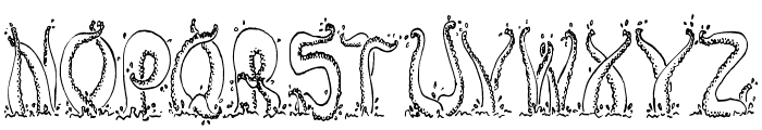 Tentacles Font LOWERCASE