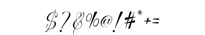 Thamron Font OTHER CHARS