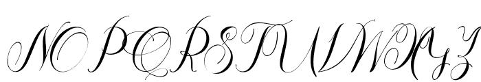 Thamron Font UPPERCASE