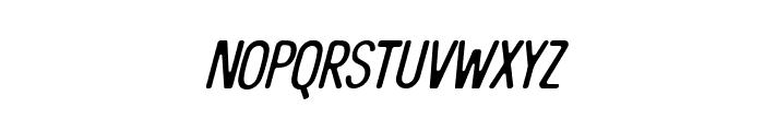 The Bangles Italic Font LOWERCASE