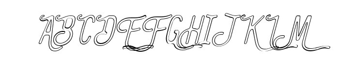 The Bangles Outline Italic Font UPPERCASE