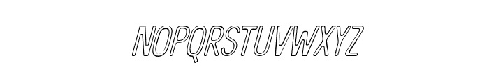 The Bangles Outline Italic Font LOWERCASE