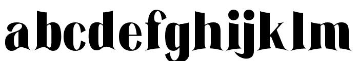 The Barista Regular Font LOWERCASE