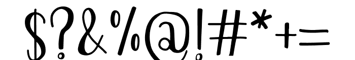 The Chaplin Font OTHER CHARS