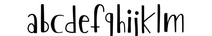 The Chaplin Font LOWERCASE