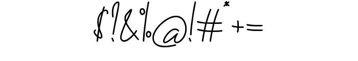 The Fallen Leaf Script Font OTHER CHARS