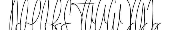 The Fallen Leaf Script Font UPPERCASE