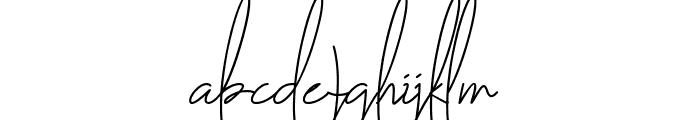 The Fallen Leaf Script Font LOWERCASE