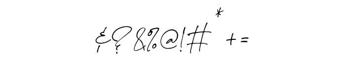 The Handnature Font OTHER CHARS