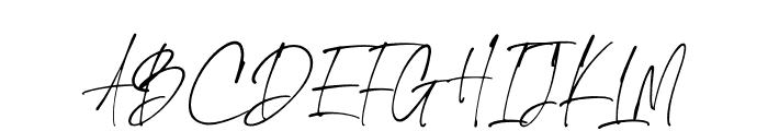 The Handnature Font UPPERCASE