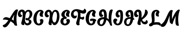 The Macksen Font UPPERCASE