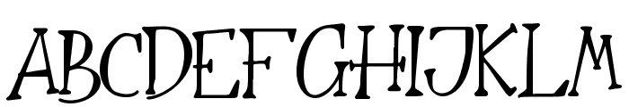 The Nightmare Font UPPERCASE