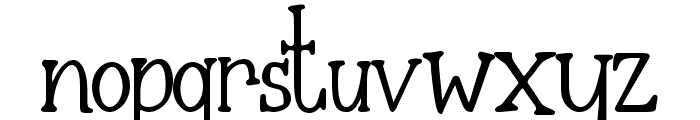 The Nightmare Font LOWERCASE