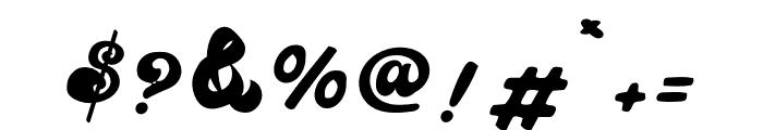 The Retropus Script Font OTHER CHARS
