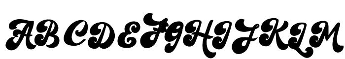 The Retropus Script Font UPPERCASE