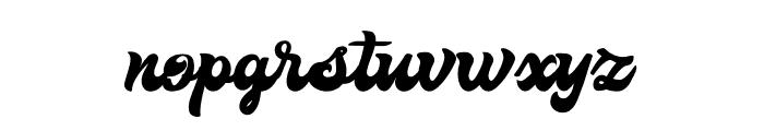The Retropus Script Font LOWERCASE