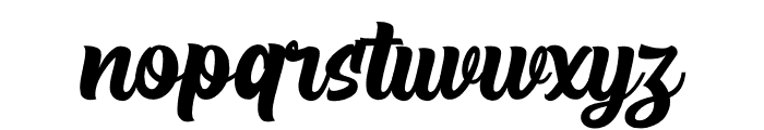 The Rughton Script Font LOWERCASE