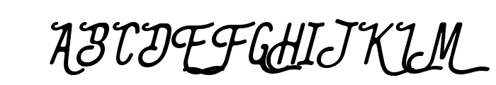 TheBangles-Italic Font UPPERCASE