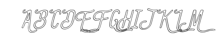 TheBanglesOutline-Italic Font UPPERCASE
