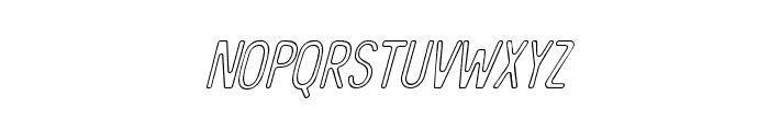 TheBanglesOutline-Italic Font LOWERCASE