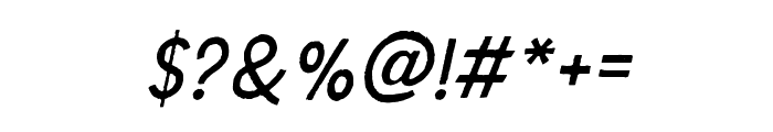 TheDodgerEdge-Italic Font OTHER CHARS