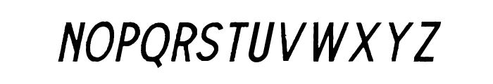 TheDodgerEdge-Italic Font UPPERCASE