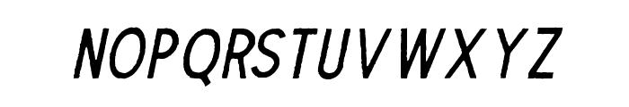 TheDodgerEdge-Italic Font LOWERCASE