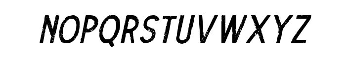 TheDodgerRough-Italic Font UPPERCASE