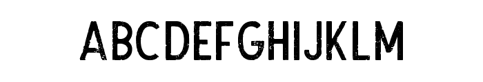 TheDodgerRough Font LOWERCASE
