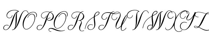 TheParagraphScript Font UPPERCASE