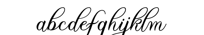 TheParagraphScript Font LOWERCASE
