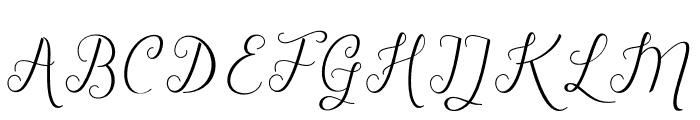 TheRusticScript Font UPPERCASE