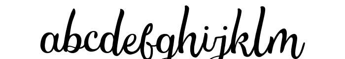 TheSalvadorScript-Script Font LOWERCASE