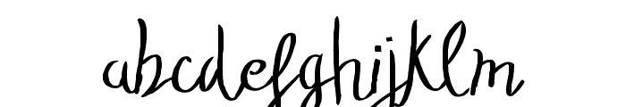 TheStopped-ExtraLight Font LOWERCASE
