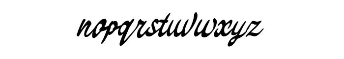 Theodore Bagwell Font LOWERCASE