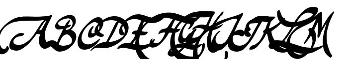 TheodoreBagwell Font UPPERCASE
