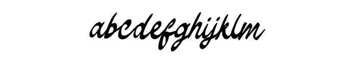 TheodoreBagwell Font LOWERCASE