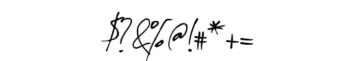 TheodoreHandwritten Font OTHER CHARS