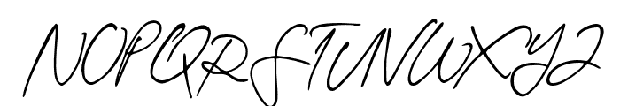 TheodoreHandwritten Font UPPERCASE