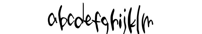 Third Storey Marker Font LOWERCASE