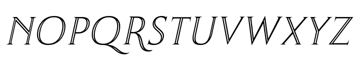Thirsk Carved Italic Font UPPERCASE