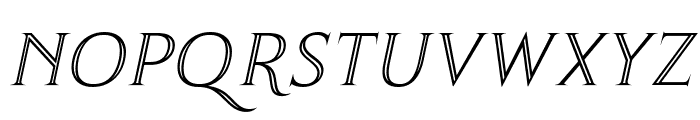 Thirsk Carved Italic Font LOWERCASE