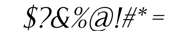 Thirsk Italic Font OTHER CHARS