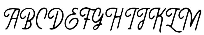 Threesixty Font UPPERCASE